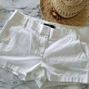NWOT J.Crew Chino Shorts in White - Size 10